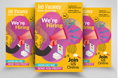 We Are Hiring/Job Vacancy Flyer Template