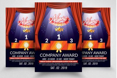 Company Award Night Flyer