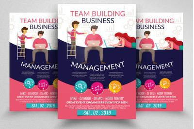 Management & Team Building Flyer