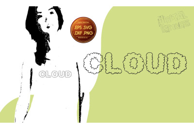 Cloud Svg, Clipart Cloud, Cut File Sky, Saying, Vector Graphic