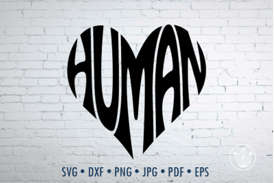 Human Word Art, Svg Dxf Eps Png Jpg, Logo design