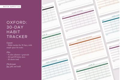 Oxford: 30-Day Habit Tracker