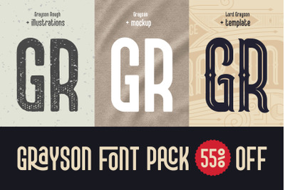 Grayson Font Pack. 55% OFF!