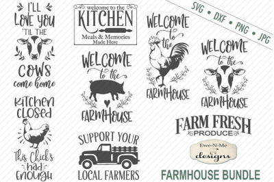 Farmhouse Bundle - Farm Animals - SVG