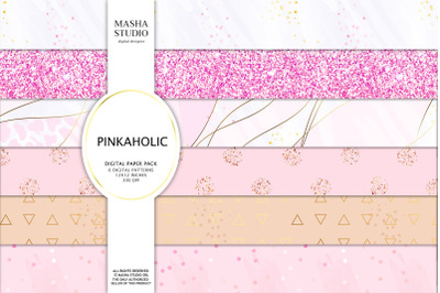PINKAHOLIC Basic Digital Papers