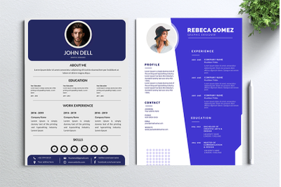 Cv Resume 2 concept bundles MC vol. 2