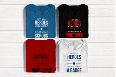 Medical And First Responder Heroes Set | SVG | PNG | DXF | EPS