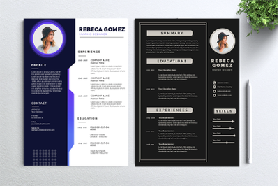 Cv Resume 2 concept bundles MC vol. 4
