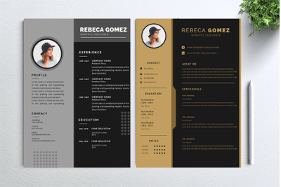Cv Resume 2 concept bundles MC vol. 6
