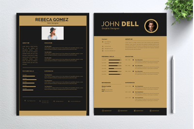 Cv Resume 2 concept bundles MC vol. 7