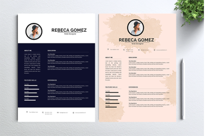 Cv Resume 2 concept bundles MC vol. 12