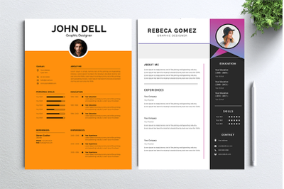 Cv Resume 2 concept bundles MC vol. 13
