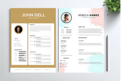 Cv Resume 2 concept bundles MC vol. 14