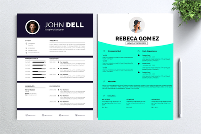 Cv Resume 2 concept bundles MC vol. 15