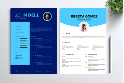 Cv Resume 2 concept bundles MC vol. 16