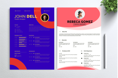 Cv Resume 2 concept bundles MC vol. 17