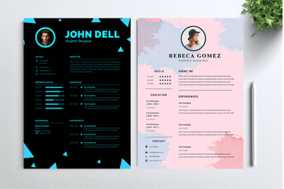 Cv Resume 2 concept bundles MC vol. 18
