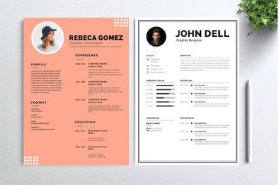 Cv Resume 2 concept bundles MC vol. 20