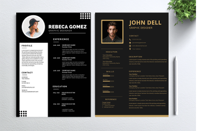 Cv Resume 2 concept bundles MC vol. 23