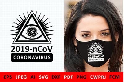 svg Covid 19 Coronavirus 2019 nCoV for DIY mask for volunteers