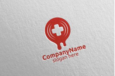 Donor Cross Medical Hospital Logo Design 47