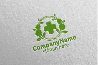 Natural Cross Medical Hospital Logo Design 48