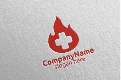 Donor Cross Medical Hospital Logo Design 49