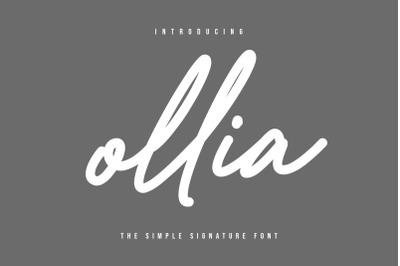 Ollia - Simple Signature Font