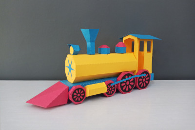 DIY Locomotive model -3d papercraft