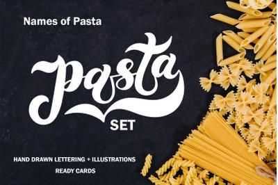 Pasta Set. Restaurant menu design