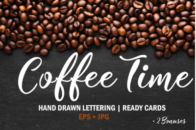 Coffee time Set. Coffee menu design