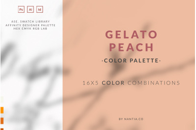 Peach Gelato Color Palette collection