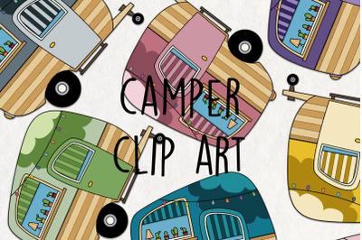 Camper SVG Clipart.