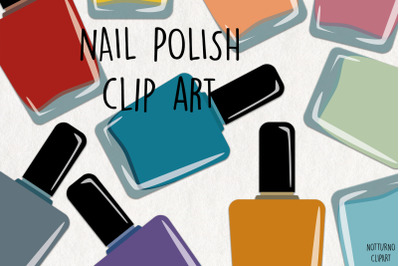 Nail Polish SVG Clipart. Instant Download Nail Polish graphics.