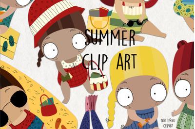 Summer Clipart SVG | Instant download vectors files | Set of 9 clipart