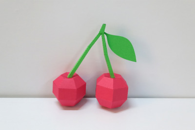 DIY Cherry  - 3d papercraft