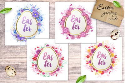 Easter Floral Greeting Cards