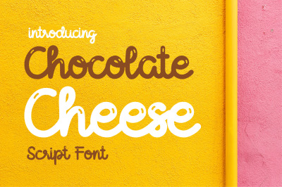 Chocolate Cheese Font