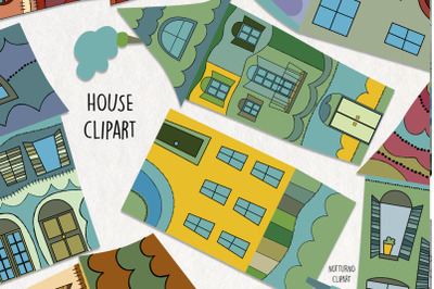 House Clipart SVG. Home graphics