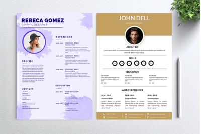 Cv Resume 2 concept bundles MC vol. 29