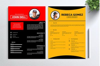 Cv Resume 2 concept bundles MC vol. 30