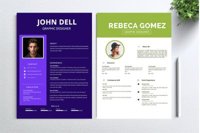 Cv Resume 2 concept bundles MC vol. 35