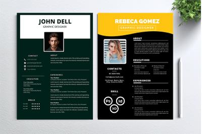 Cv Resume 2 concept bundles MC vol. 45