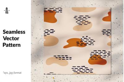 Abstract terracotta seamless pattern