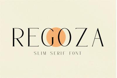 REGOZA//Typeface Slim Serif (DISCOUNT 50%)