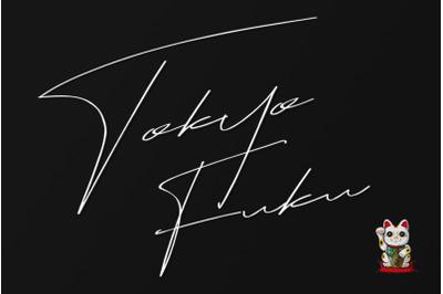 Tokyo Fuku Signature Font With Swash