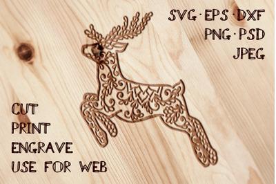 Deer Template | SVG DXF EPS PSD PNG JPEG