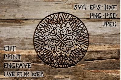Circular Ornament Template | SVG DXF EPS PSD PNG JPEG
