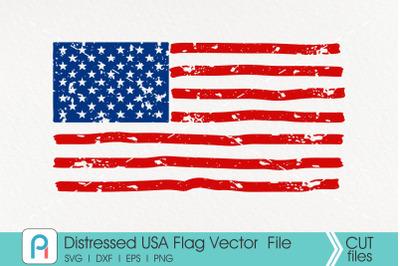 Distressed American Flag Svg, USA Flag Svg, Grunge USA Flag