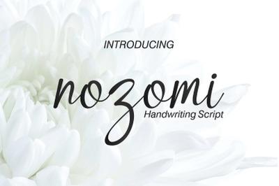 Nozomi Handwriting Script